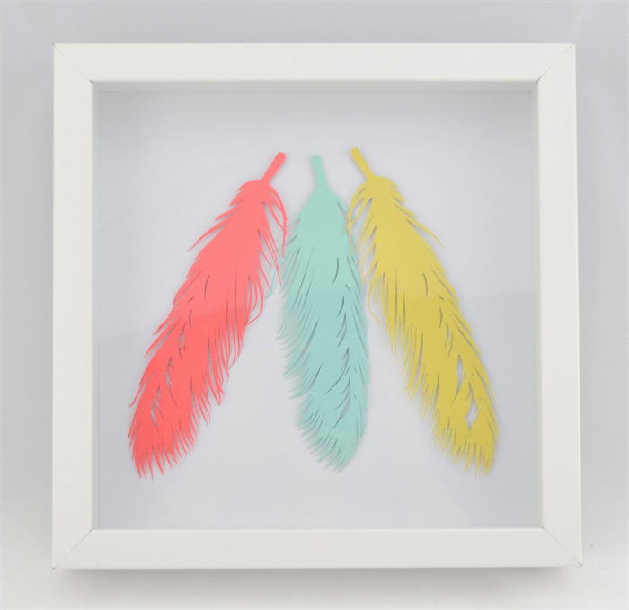 d paper cut wall art feathers birthday house warming gift