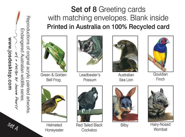 Gift Box Of 8 Greeting Cards Australian Wildlife Art