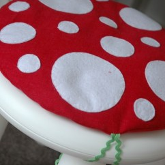 Chair Cushions With Ties Ikea Simply Bows And Covers Franchise Toadstool Cushion In Red: Children / Kids Fits Mammut Stool | Whirlygigkids ...