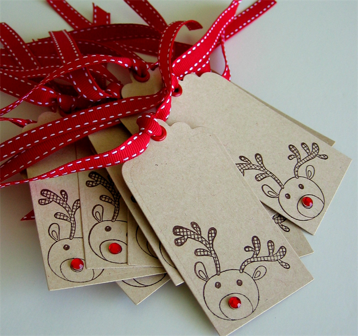 Christmas Gift Tags Rudolph The Red Nosed Reindeer 12