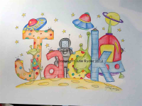 Personalised and Themed Name Art for Boys and Girls room ...