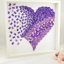 3d Butterfly Heart Wall Art Heart Frame Paper Wall Art