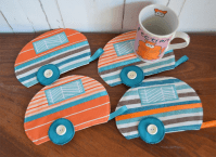 Funky mug rugs, caravan coasters, drink mats   Robyn Faye ...