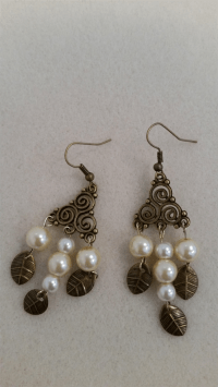 Pearl Beaded Chandelier Earring | My Olive Tree | madeit ...