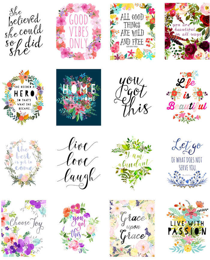 inspirational printable planner stickers