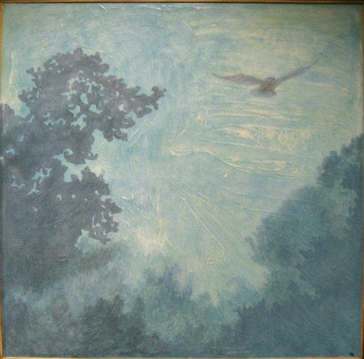 """6am (Summer)"" Oil on canvas, 48""x48"". 2011."