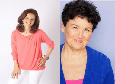 Kathy Gordon and Dahlia Alam