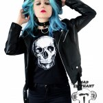 black skull shirt womens