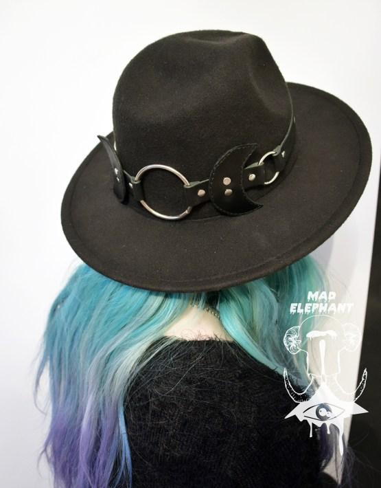 large black fedora hat
