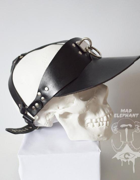 black sun visor hat