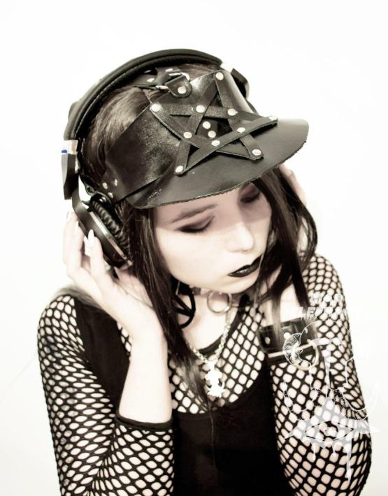 leather visor hats