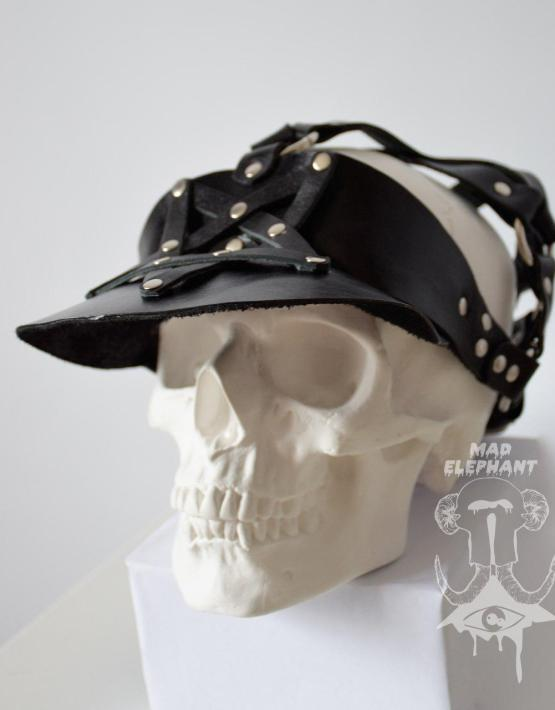 leather visor cap
