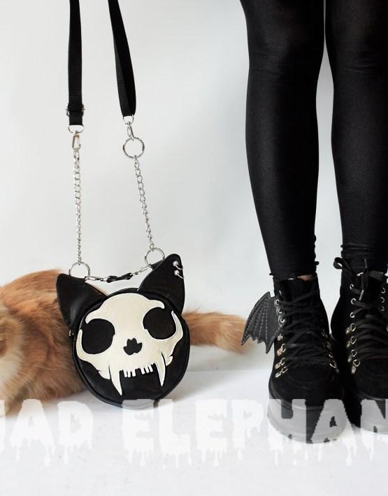 cat skull bag