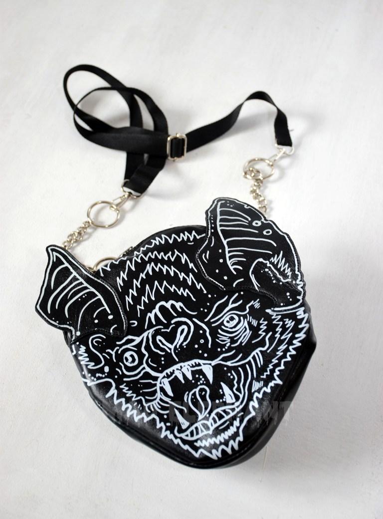black bat wings bag