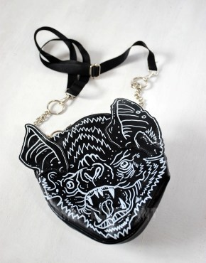 black bat wings bag