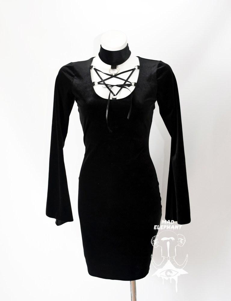 velvet witch dress
