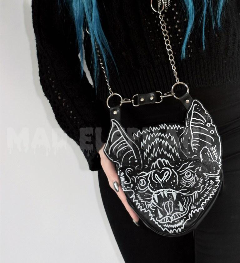 black bag with bat wings