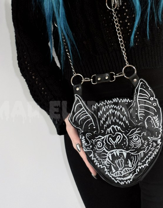 black bag with bat wings