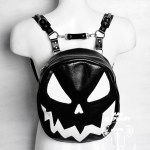 halloween themed pumpkin backpack