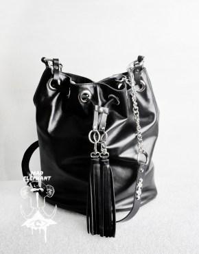 tassel drawstring bag
