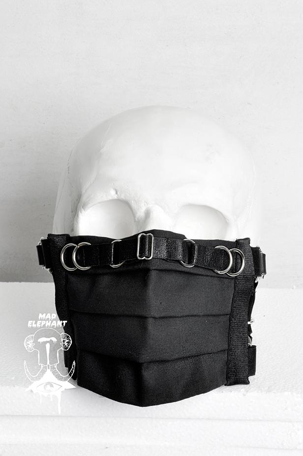 cotton black face mask