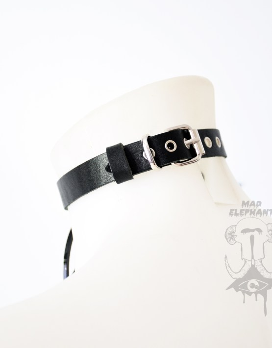 choker necklace online leather