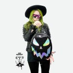 holographic pumpkin backpack