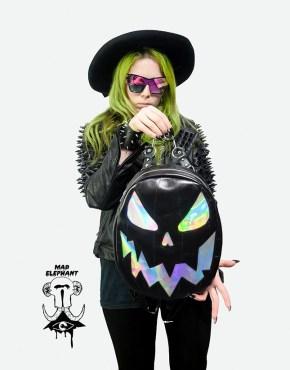 holographic pumpkin backpack