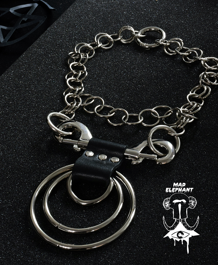 cybergoth chain choker