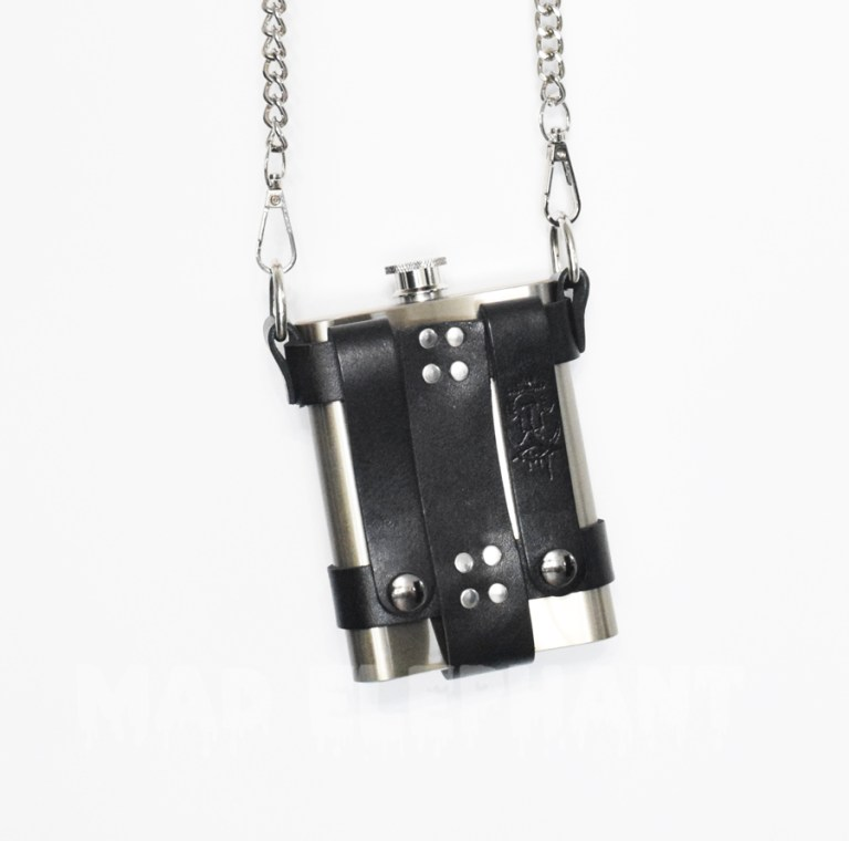 Leather flask holster harness