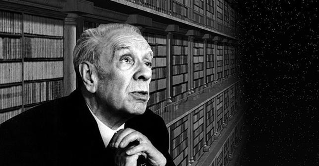 Librarian Jorge Luis Borges ...moving about with every step of his slow paced nature...