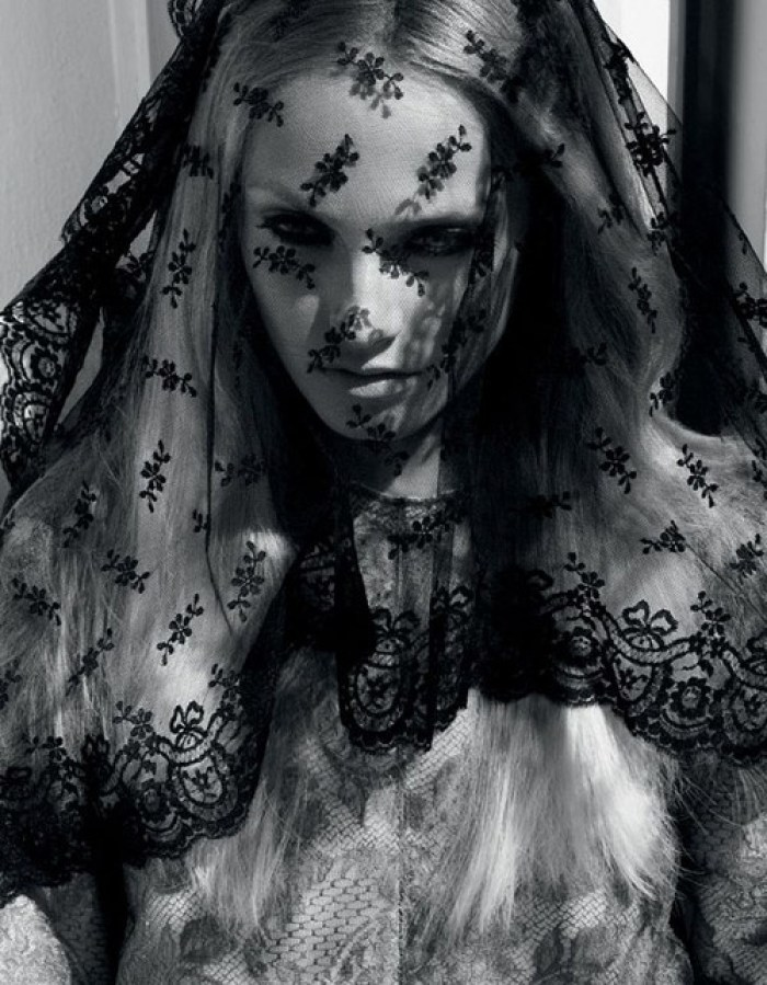 imperial march vogue nippon cathedral veil black