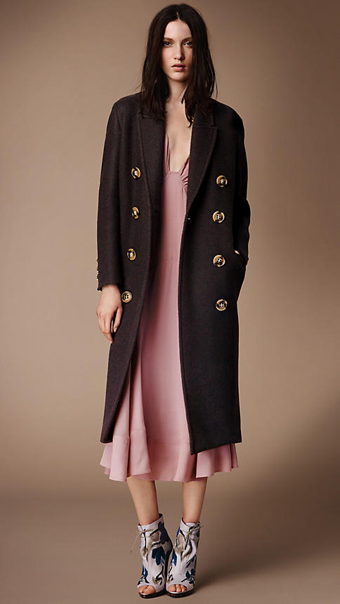 I was warm in my Burberry coat, looking down through the dirty grey fog... Image source: Burberry prorsum FW 14