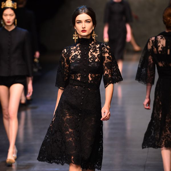 lace and familia dolce e gabbana