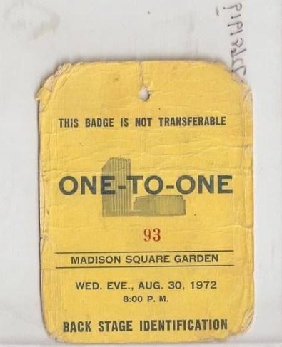 OneToOneBackstage Pass