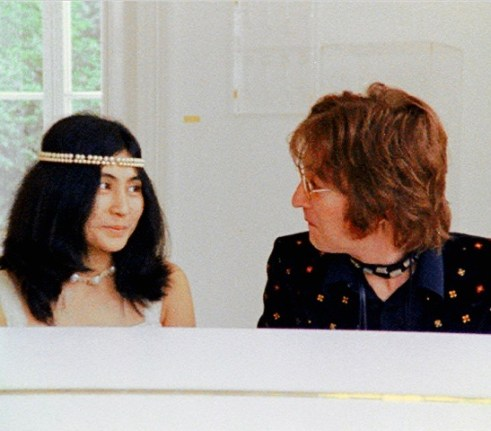 Lennon and Yoko Ono in the Imagine video