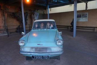day 7.2 mady and mom weasley car