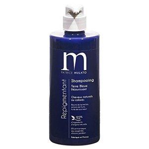 routine cheveux decolorés - shampooing terre bleue déjaunissant mulato