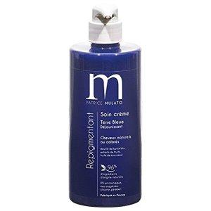 routine cheveux decolorés - soin terre bleue dejaunissan mulato
