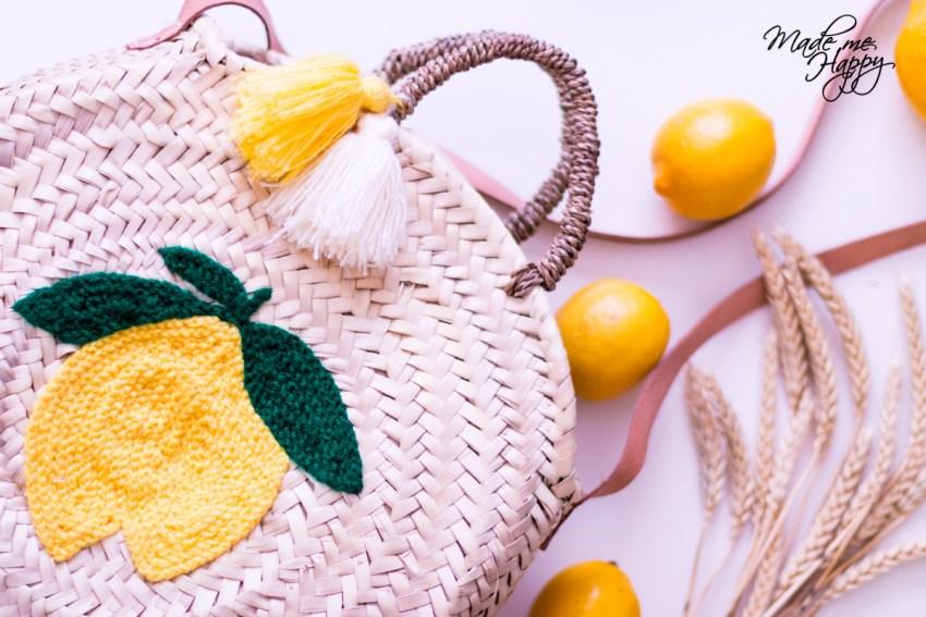 Panier Paille Citron - Blog lifestyle Cap Ferret