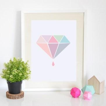 Affiche Diamant Petite Mila