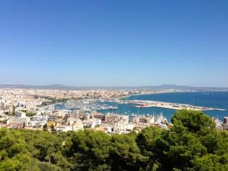 Vue sur la baie de Palma