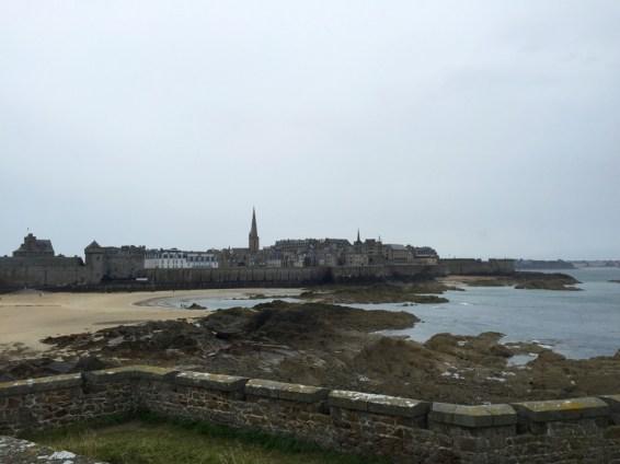 Vu depuis le fort sur Saint-Malo