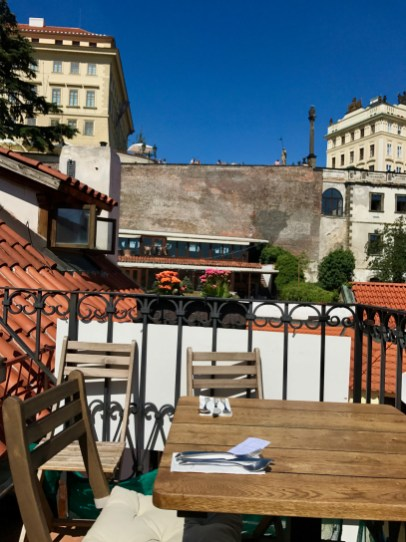 Terrasse de Vegan's Prague