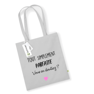 Tote bag message