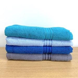 Serviettes de toilette bleues