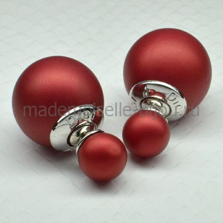 Серьги в виде шариков Fashion Bordo Matt