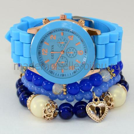 Комплект браслеты с часами AquaMarine