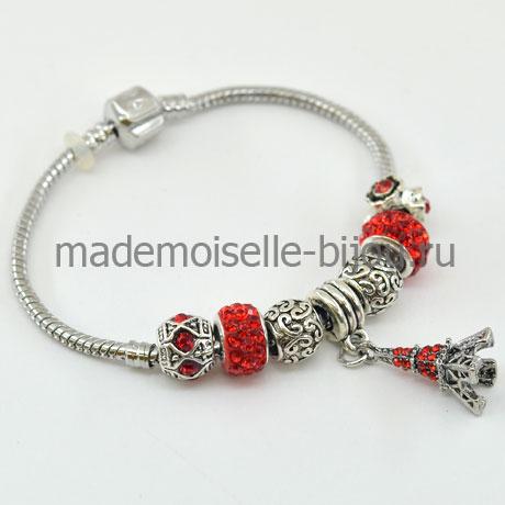 Женский браслет с подвесками Paris red