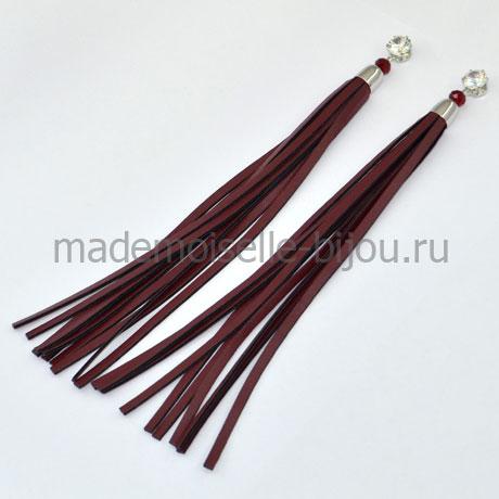 Длинные серьги кисточки Oscar Grand Bordo S (17 cm)